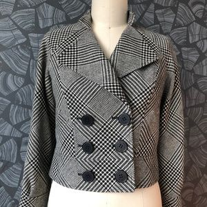 Anne Klein black and white jacket (Size 6)